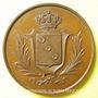Münzen Société de Tir de Lunéville. Concours. Médaille en cuivre. 51 mm. Signée Bescher. Poinçon : abeille