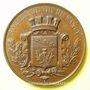 Münzen Société de Tir de Nancy. Médaille en cuivre. 55 mm. Poinçon : abeille