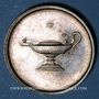 Münzen STUTTGART. Lycée royal. Prix d'école. Médaille en argent. 26,80 mm