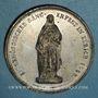 Münzen Suisse. Zurich. Fête fédérale de chant. 1858. Médaille étain. 40,7 mm.