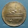 Münzen Union Syndicale des Tissus, matières textiles et habillellement. 1920. Médaille en vermeil