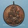 Münzen Vatican. Léon XIII (1878-1903). La Vierge au-dessus du monde catholique. 1887. Médaille bronze