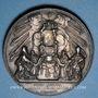 Münzen Vatican. Pie IX (1846-1870). Sécession de l'Emilie 1860. Médaille en argent. 43,4 mm.