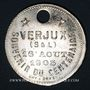 Münzen Verjux (Bourgogne, Saône et Loire). Augustin Farion et Anne Gaudillot. Médaille zinc nickelé. 1905