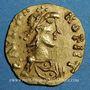 Münzen Les Mérovingiens. Chalon-sur-Saône. Baudemares et Rignoaldus, monétaires. Trémissis