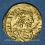 Münzen Les Mérovingiens. Marseille. Trémissis de 7 siliques au nom de Maurice Tibère (582-602)