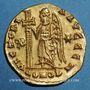 Münzen Les Mérovingiens. Royaume burgonde. Gondebaud (473-516). Solidus. Lyon, 507-516. R ! R ! R !