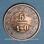 Münzen Argentine. Buenos Aires. 5/10 real 1827