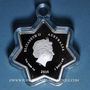 Münzen Australie. Elisabeth II (1952- ). 1 dollar 2016 Merry Christmas - Star-Shaped Silver Coin