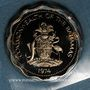 Münzen Bahamas. 10 cents 1974