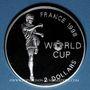 Münzen Bahamas. 2 dollars 1997. 16e coupe du Monde de Football - France