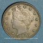 Münzen Etats Unis. 5 cents 1901