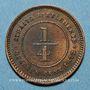 Münzen Malaisie. Etablissements des détroits (Straits Settlements). Victoria (1837-1901). 1/4 cent 1872