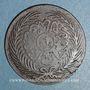 Münzen Tunisie. Abdoul Aziz avec Mohammed el-Sadok (1277-1293H = 1861-1876). 2 kharoubs 1289H