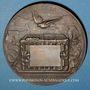 Münzen Guerre de 1870-1871. Emploi des pigeons. Médaille bronze. 63 mm. Gravée par Degeorge