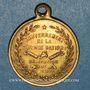 Münzen Guerre de 1870-1871. Léon Gambetta. Médaille cuivre jaune
