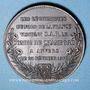 Münzen Guerre de 1870-1871. Les légitimistes du Nord rendent visite au comte de Chambord. Médaille. 36,7 mm