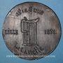 Münzen Guerre de 1870-1871. Lille, Impôt sur la bière. Médaille étain cuivré. 71 mm