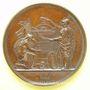 Münzen Révolution de 1830. Médaille dédiée aux Victimes de Juillet. Bronze. 51 mm. Gravée par Caqué