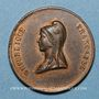Münzen Révolution de 1848. 14 mai - Fête du Champ de Mars. Médaille cuivre rouge