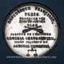 Münzen Révolution de 1848. 29 et 30 janvier 1849 émeute reprimée par Changarnier. Médaille étain. 42 mm