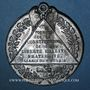 Münzen Révolution de 1848. Adoption des formules de la constitution. Médaille étain. 46 mm
