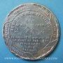 Münzen Révolution de 1848. Arrestation des auteurs de l'attentat. Médaille étain coulé. 46,3 mm