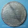Münzen Révolution de 1848. Candidatures à la présidence. Médaille étain. 47 mm