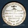 Münzen Révolution de 1848. Club de la Montagne de Montmartre. Médaille cuivre argenté. 33,9 mm
