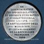 Münzen Révolution de 1848. Commémoration des journées de févier. Médaille étain. 45 mm