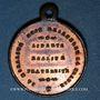 Münzen Révolution de 1848. Commémoration des journées de février. Médaille cuivre rouge. 23,5 mm