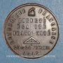 Münzen Révolution de 1848. Commémoration des journées de février. Médaille cuivre rouge. 33,79 mm