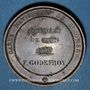 Münzen Révolution de 1848. Concours armé des départements. Médaille cuivre. 37 mm