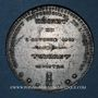Münzen Révolution de 1848. Décret sur l'agriculture. Médaille plomb étain. 42 mm