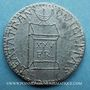 Münzen Révolution de 1848. Décret sur le traitement des représentants. Médaille plomb. 22 mm