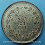 Münzen Révolution de 1848. Fête de la Concorde. Médaille cuivre blanchi. 27,8 mm