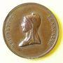Münzen Révolution de 1848. Fête de la Concorde. Médaille cuivre rouge. 26 mm