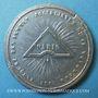 Münzen Révolution de 1848. Fête de la Constitution. Banquets. Médaille étain coulé. 38 mm