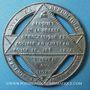 Münzen Révolution de 1848. Fête de la Constitution. Médaille étain. 42 mm
