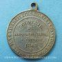 Münzen Révolution de 1848. Fraternisation des gardes nationales. Médaille cuivre argenté. 24 mm