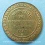 Münzen Révolution de 1848, Fraternisation des gardes nationales, médaille cuivre jaune. 24 mm