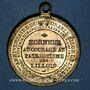 Münzen Révolution de 1848. Fraternisation des gardes nationales. Médaille cuivre jaune. 33,3 mm