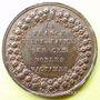 Münzen Révolution de 1848. Funérailles des victimes de juin. Médaille cuivre rouge. 27 mm