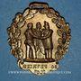 Münzen Révolution de 1848. Insignes de 1848. Combattant de février. Médaille cuivre jaune repoussé. 32 mm