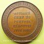 Münzen Révolution de 1848. Le général Cavaignac. Médaille bronze 44 mm. Très rare en bronze !