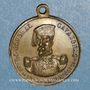 Münzen Révolution de 1848. Le général Cavaignac. Médaille cuivre jaune. 23,12 mm