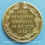 Münzen Révolution de 1848. Le général Cavaignac. Médaille cuivre jaune. 24,2 mm