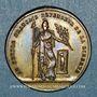 Münzen Révolution de 1848. Le général Cavaignac. Médaille cuivre jaune. 24 mm