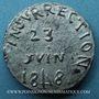 Münzen Révolution de 1848. Le général Cavaignac. Médaille plomb. 24 mm