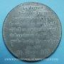 Münzen Révolution de 1848. Lutte. Chute de la Royauté. Médaille plomb. 72 mm